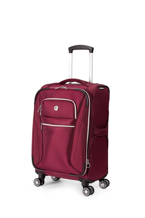 "Swissgear 7850 Checklite 20"" Expandable Liteweight Pilot Case Luggage - Burgundy Velvet"