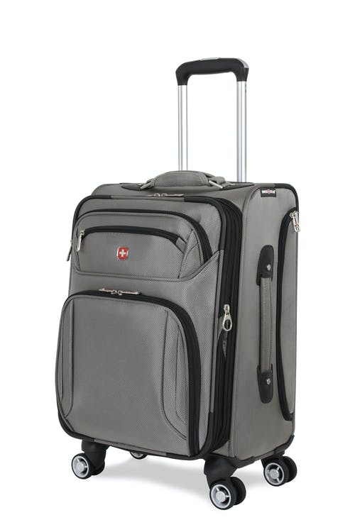 "SWISSGEAR 7895 Zurich 19"" Expandable Deluxe Carry-On Spinner Luggage - Pewter"