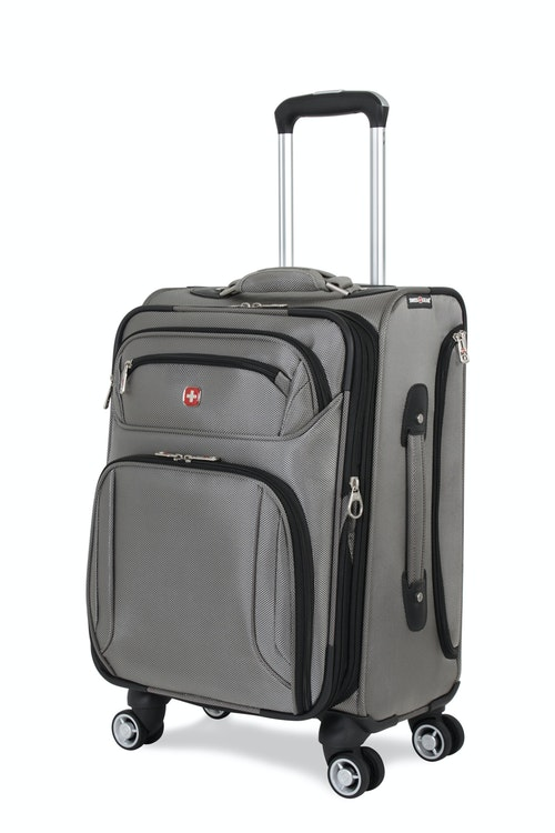 "SWISSGEAR 7895 19.5"" EXPANDABLE DELUXE CARRY-ON SPINNER - PEWTER LUGGAGE"