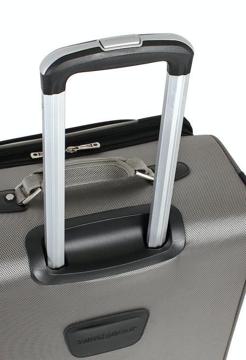 "SWISSGEAR 7895 19.5"" EXPANDABLE DELUXE CARRY-ON SPINNER ALUMINUM LOCKING PULL HANDLE"