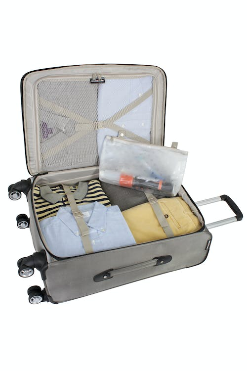"""SWISSGEAR 7895 24"""" EXPANDABLE DELUXE SPINNER LUGGAGE ADJUSTABLE CLOTHING TIE-DOWN STRAPS"""