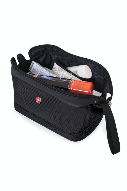 SWISSGEAR 8756 DELUXE FRAMED TOILETRY KIT WITH WATER RESISTANT PVC BOTTOM