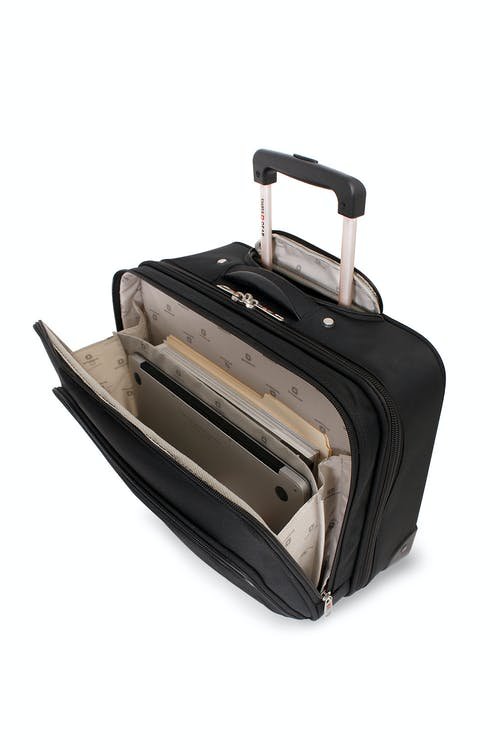 "SWISSGEAR 8869 17"" ROLLING TOTE SIDE POCKET"