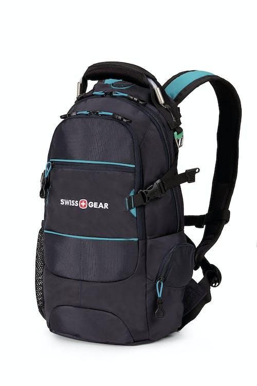 SWISSGEAR 1651 City Pack Backpack - Noir Satin/Raffia Teal