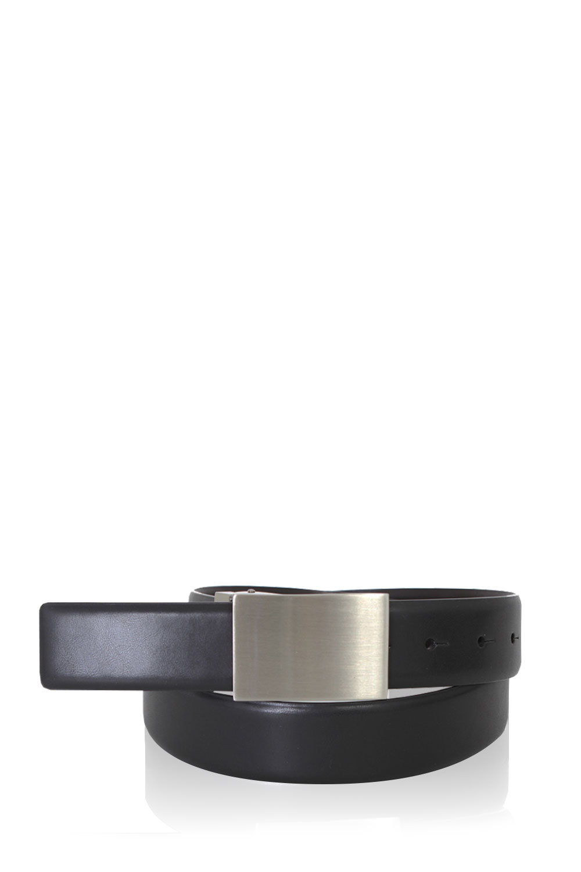 swissgear santis black brown reversible dress belt