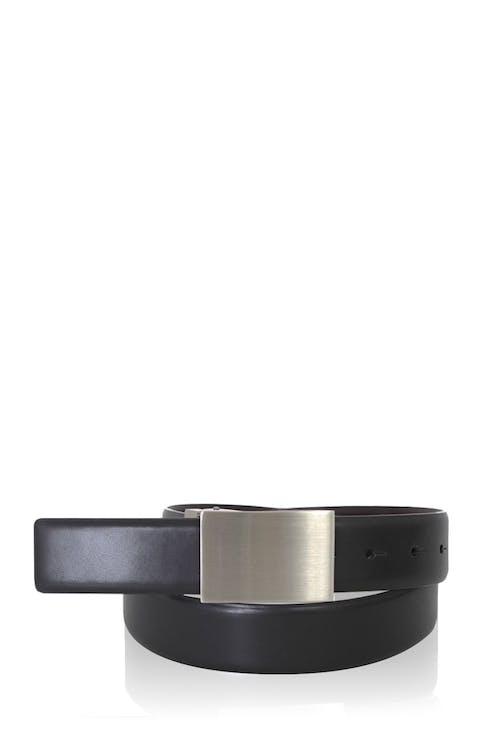 SWISSGEAR SANTIS BLACK-BROWN REVERSIBLE DRESS BELT