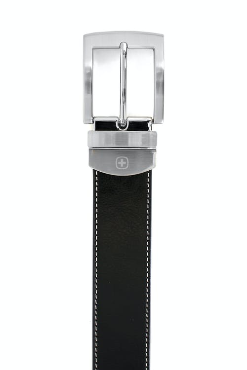 SWISSGEAR Oberland Black-Brown Reversible Dress Belt - Black