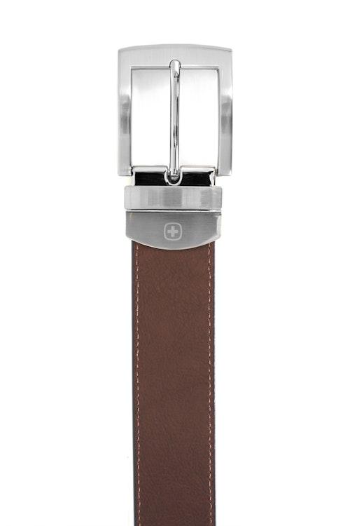 SWISSGEAR Oberland Black-Brown Reversible Dress Belt - Brown