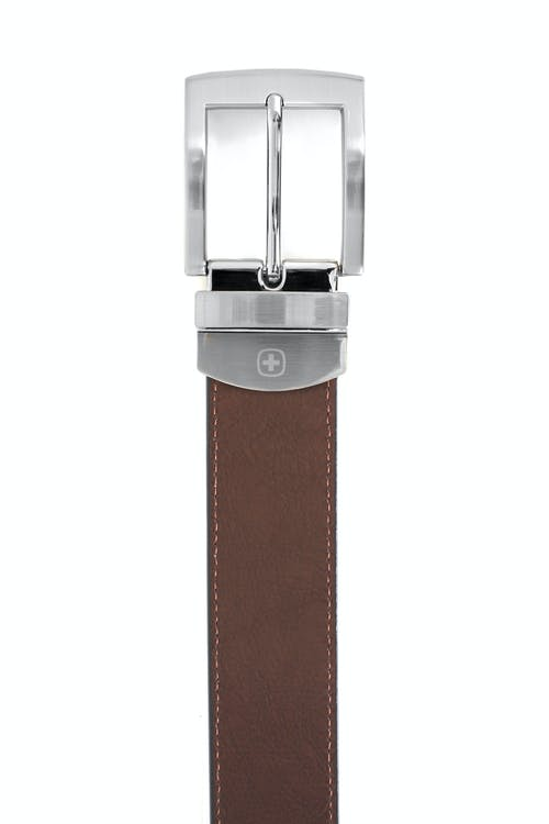 SWISSGEAR Oberland Black-Brown Reversible Dress Belt - Brown