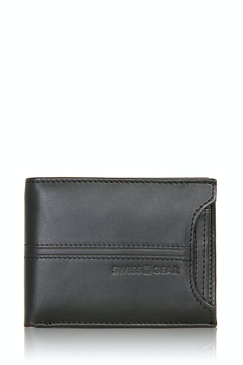 SWISSGEAR Delmont Bifold Wallet with Card Case Slide-Out - Black