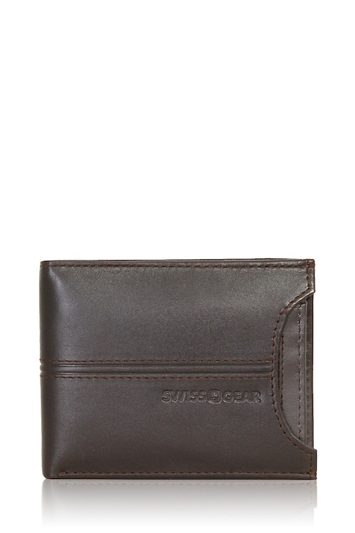 SWISSGEAR Delmont Bifold Wallet with Card Case Slide-Out - Brown