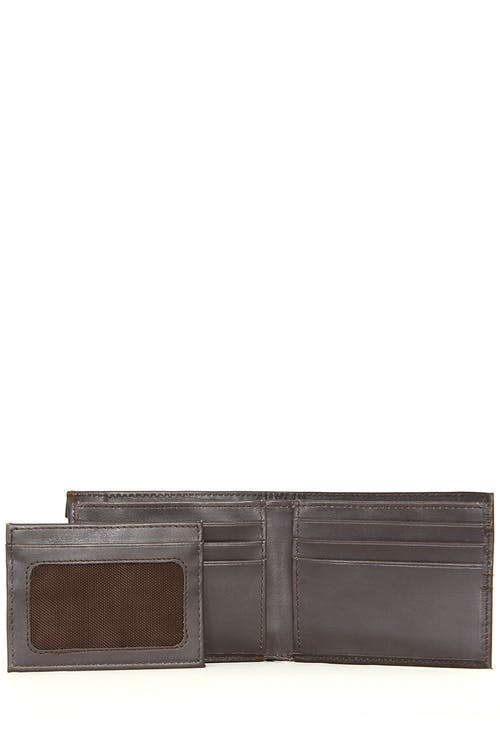 SWISSGEAR Delmont Bifold Wallet with Card Case Slide-Out - Interior with Card Case
