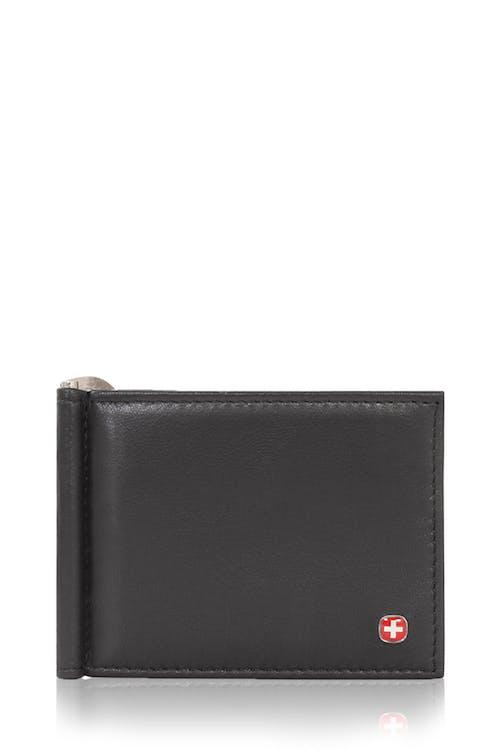 SWISSGEAR Money Clip Bifold Card Wallet - Black
