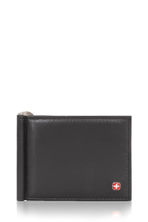 SWISSGEAR Money Clip Bifold Card Wallet - Black