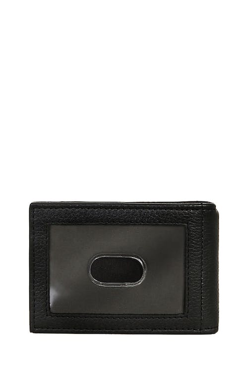 SWISSGEAR Basal Money Clip Bifold Card Wallet with additional Card slot on the exterior