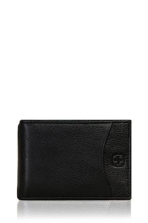 SWISSGEAR Basal Slimfold Card Wallet with Money Clip - Black