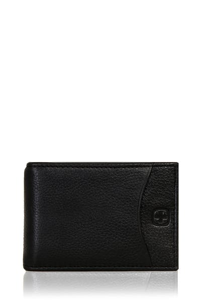 SWISSGEAR Basal Money Clip Bifold Card Wallet - Black