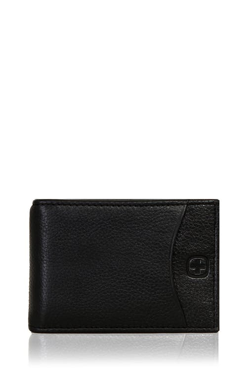 Swissgear Basal Slimfold Card Wallet with Money Clip - Black