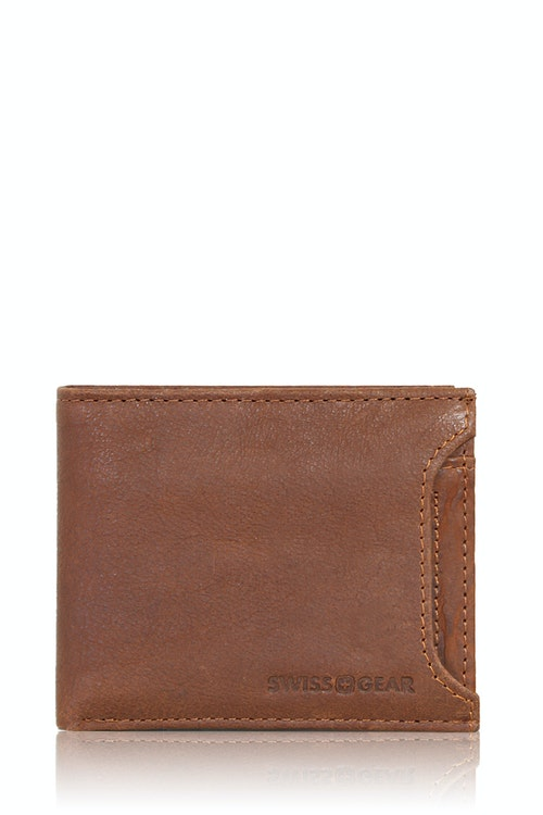 SWISSGEAR Brig Bifold Wallet With Slide-Out Card Case - Light Brown