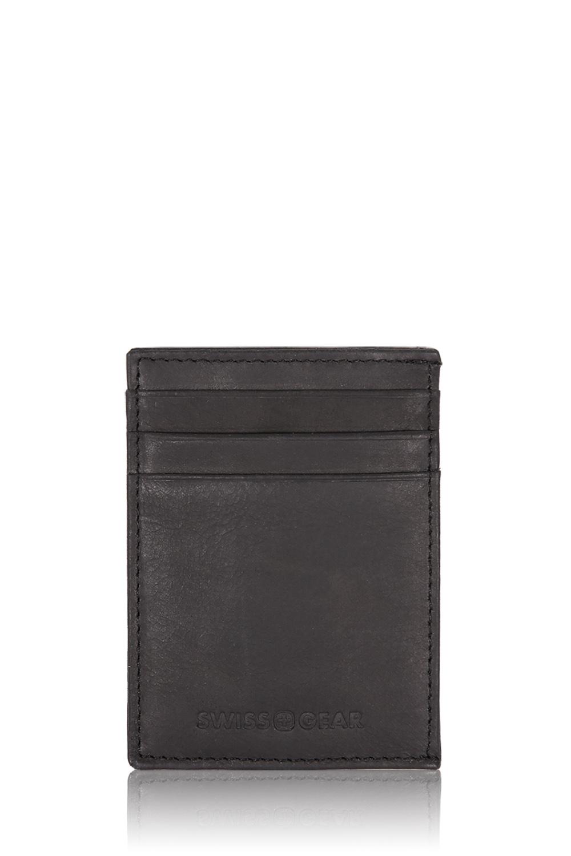 Swissgear Lugano Money Clip Card Wallet Black