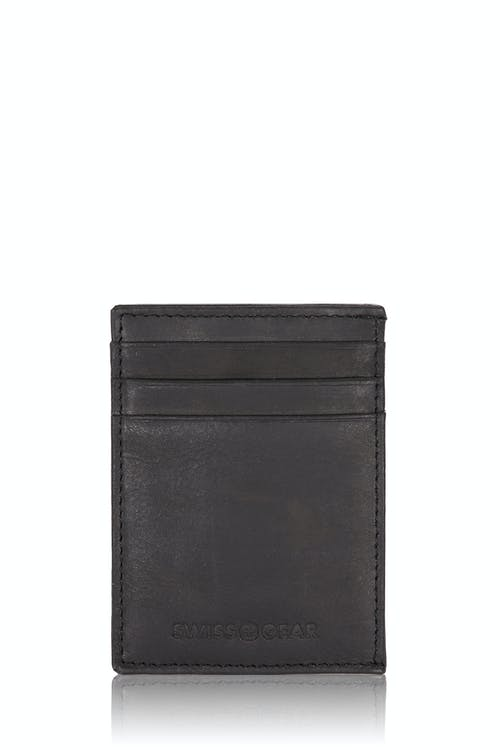 SWISSGEAR Lugano Money Clip Card Wallet - Black