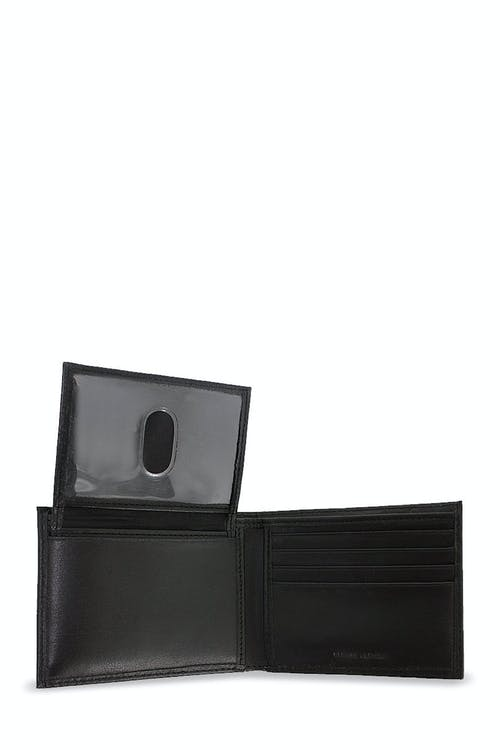 SWISSGEAR Lucerne Bifold Wallet with Removable Card Case FEATURING TWO ACETATE CARD SLOTS