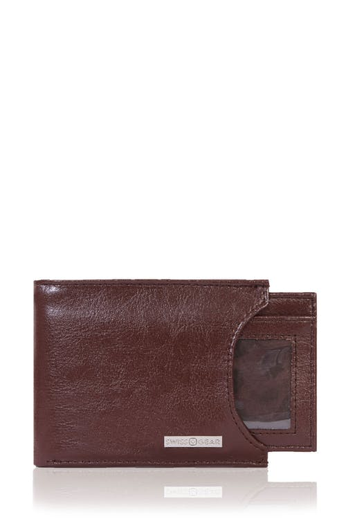 SWISSGEAR Ticino Bifold Wallet with Slide-Out Card Case In Brown