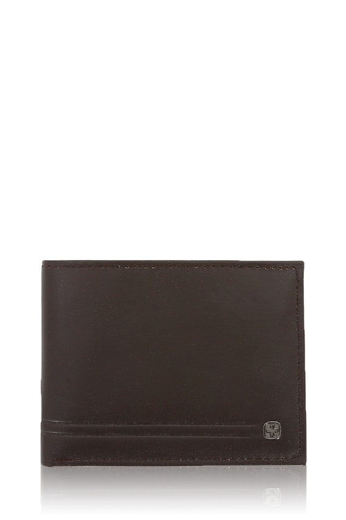 Swissgear Men's Embossed Double Stripe Bifold Wallet
