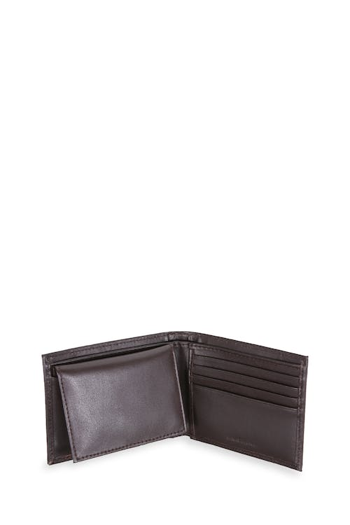 Swissgear Men's Embossed Double Stripe Bifold Wallet Six card slots