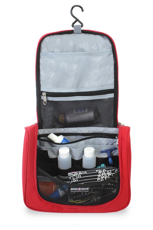SWISSGEAR 2310 HANGING TOILETRY KIT MULTIPLE SLIP & ZIP POCKETS