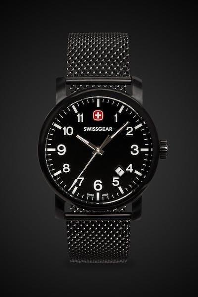 Swissgear Legacy Watch - Black with Black Dial & Black Strap