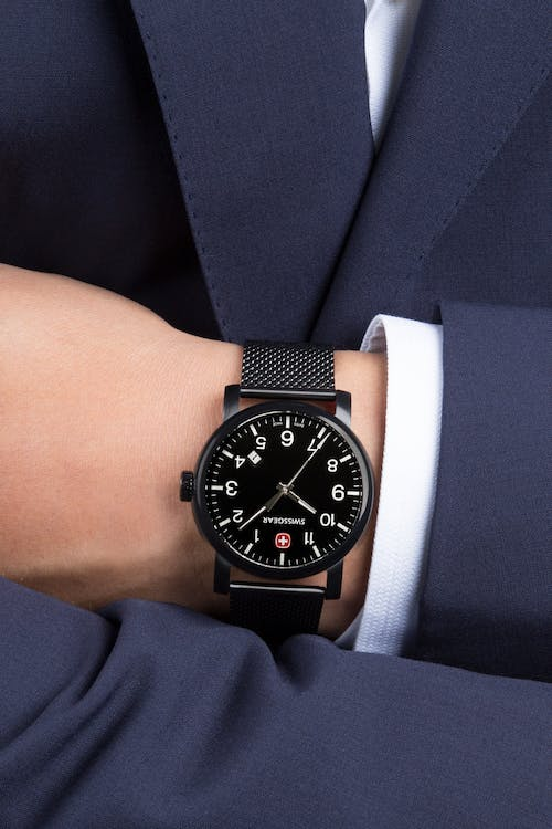 Swissgear Legacy Watch - Black with Black Dial & Black Strap