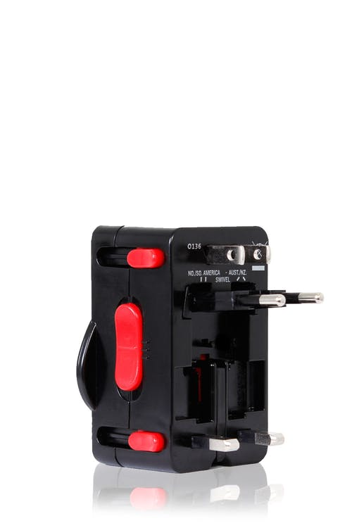 SWISSGEAR WORLDWIDE ADAPTOR PLUG SAFETY LOCK SURGE PROTECTOR