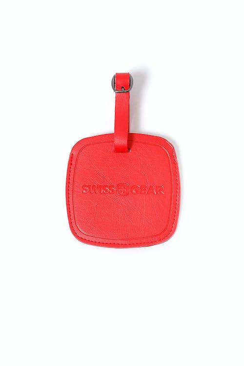 SWISSGEAR RED JUMBO LUGGAGE TAG ATTACHES WITH ADJUSTABLE BUCKLE