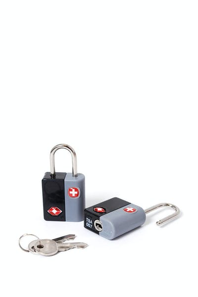 SWISSGEAR TSA KEY LOCK TWIN PACK - BLACK