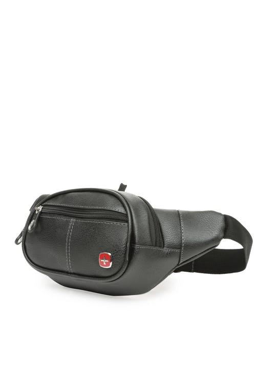 Swissgear 0436 Faux Leather Waist Bag - Black