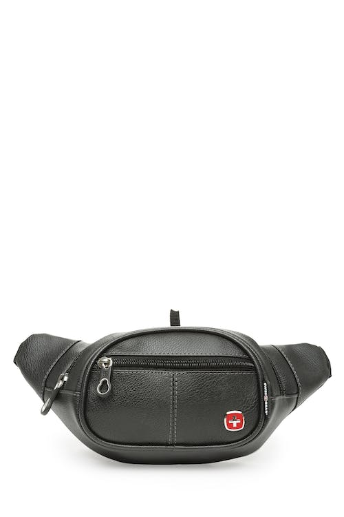 Swissgear 0436 Faux Leather Waist Bag  Front and rear zippered pockets