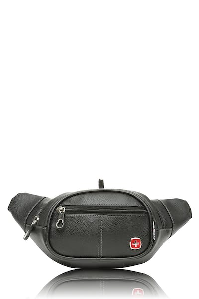 Swissgear 0436 Faux Leather Waist Bag - Black