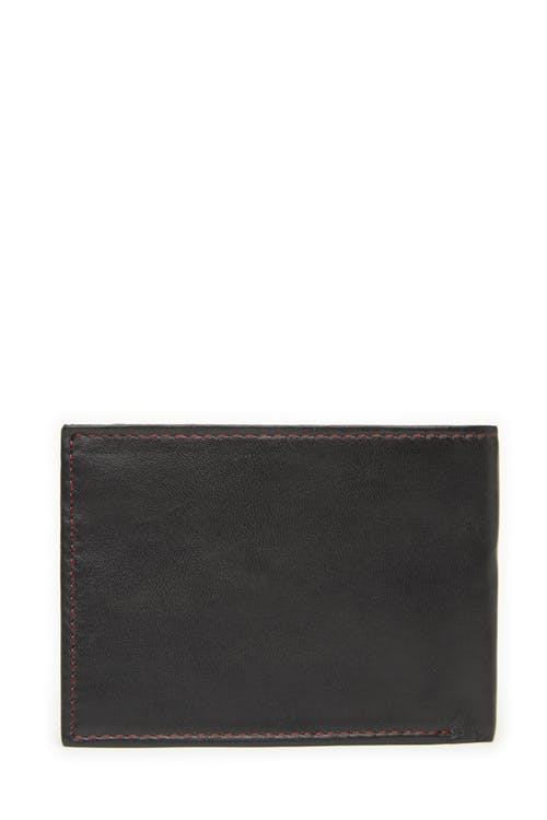 Swissgear 66105 Leather Billfold Wallet with RFID Shield RFID-blocking lining