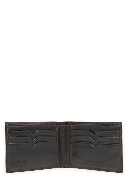 Swissgear 66105 Leather Billfold Wallet with RFID Shield 6 card slots