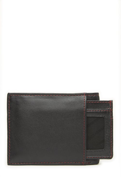 Swissgear 66152 Leather Billfold Wallet with RFID Shield and Removable ID Case Removeable card case