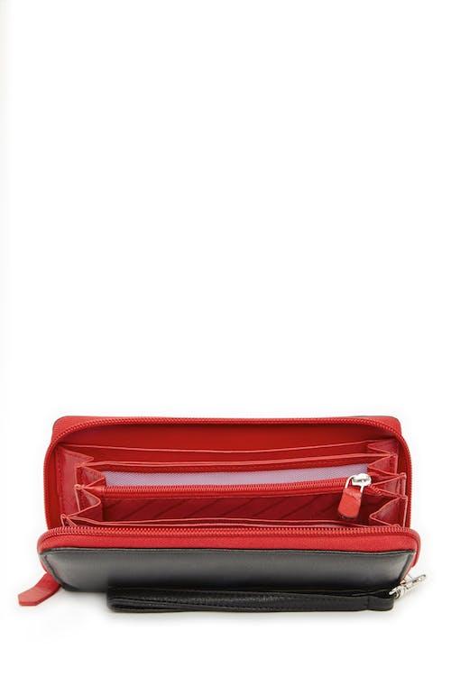 Swissgear 66702 Ladies RFID Zip-Around Wallet  Interior wall pockets