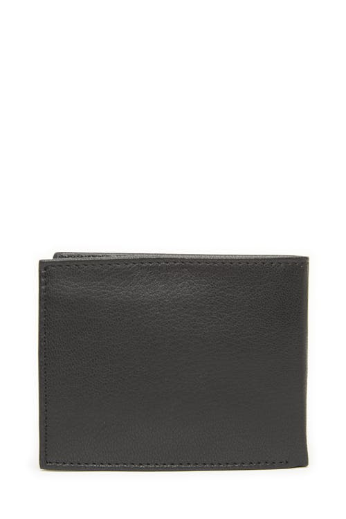 Swissgear 61106 Leather Billfold Wallet with Center ID Wing Pebble leather