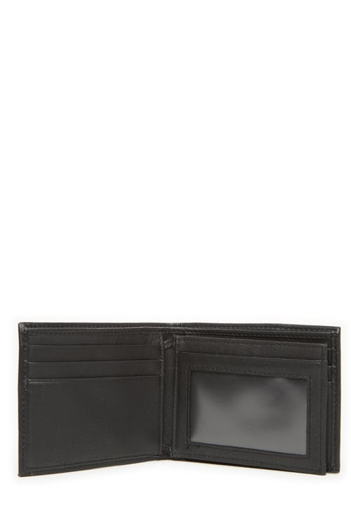 Swissgear 61106 Leather Billfold Wallet with Center ID Wing Centre wing