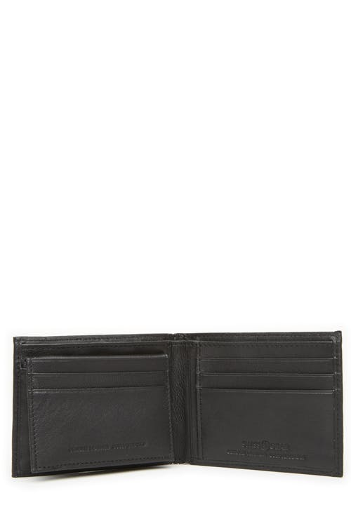 Swissgear 61135 Leather Billfold Wallet with Removable ID Flap 6 card slots