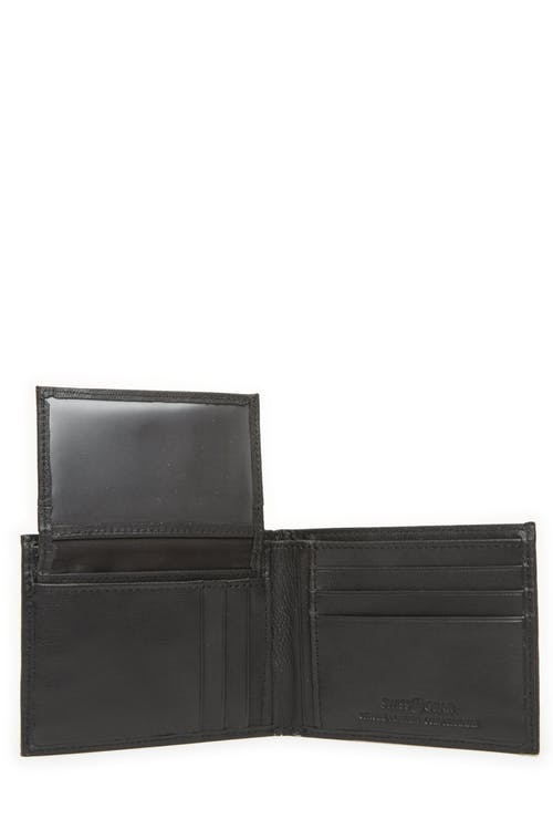 Swissgear 61135 Leather Billfold Wallet with Removable ID Flap Removeable card case