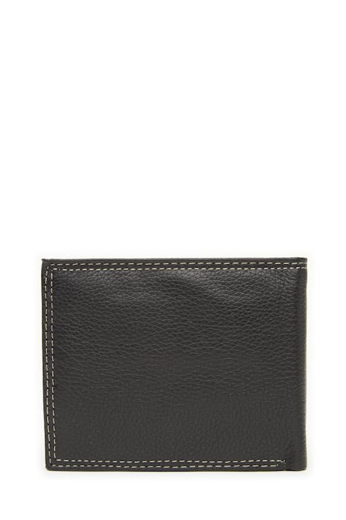 Swissgear 62106 Leather Billfold Wallet with Center ID Wing Grainy leather