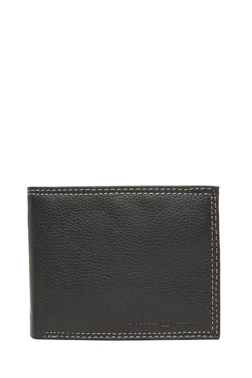 Swissgear 62106 Leather Billfold Wallet with Center ID Wing - Black