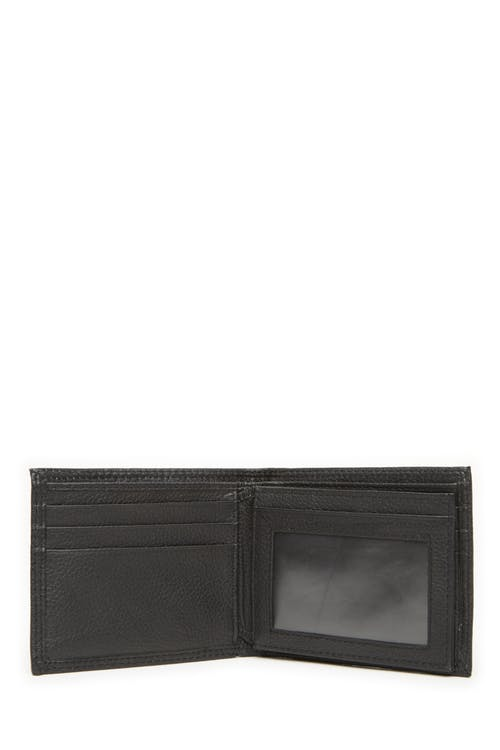 Swissgear 62106 Leather Billfold Wallet with Center ID Wing Center ID wing