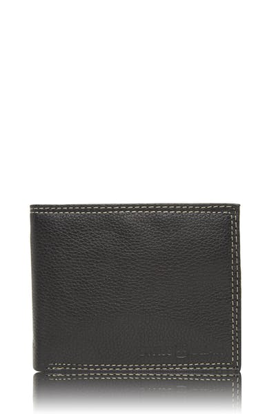 Swissgear 62106 Leather Billfold Wallet with Center ID Wing - Black